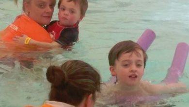 boys swimming