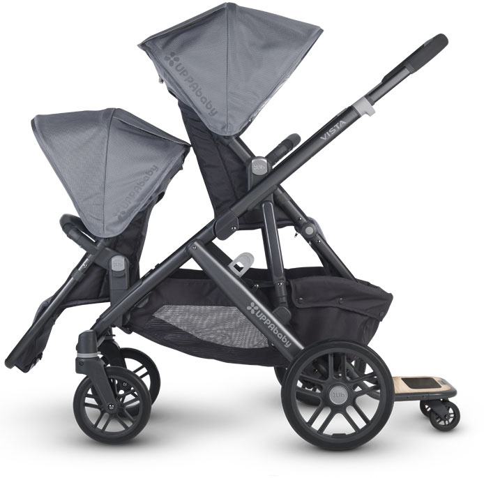 Uppababy Vista can take up to 3 children!