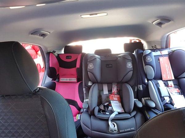 three car seats