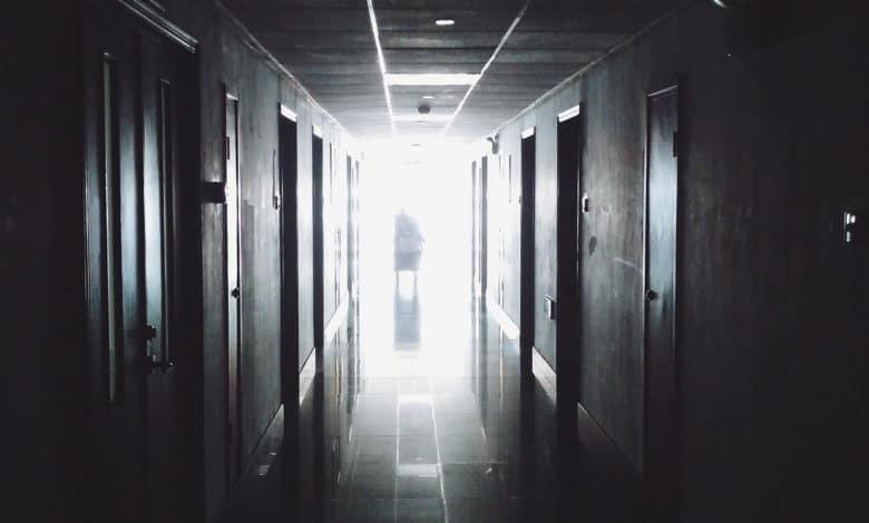in a hospital hallway