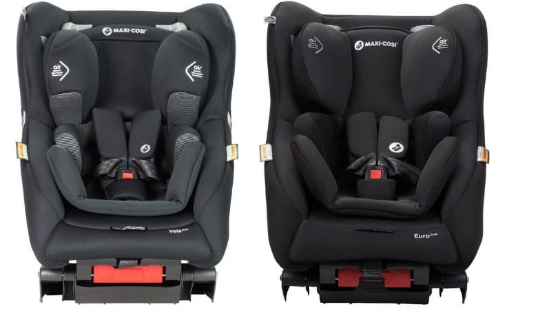 Maxi Cosi Vela Slim (Left) Maxi Cosi Euro Slim (Right)