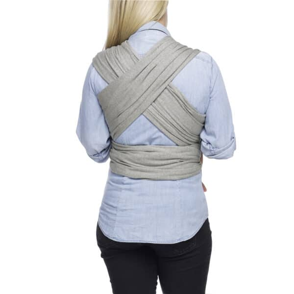 moby classic wrap heathered grey 1