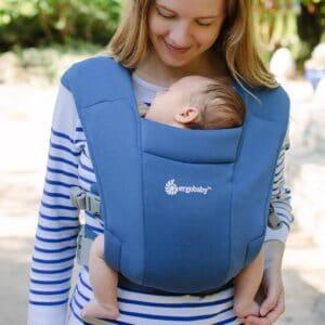 ergobaby embrace soft navy newborn