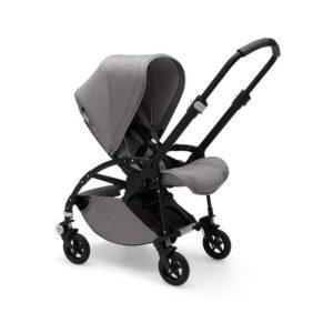 Bugaboo Bee 5 seat pram Mineral, black chassis, light grey fabrics & sun canopy