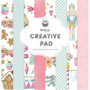 """P13 Maxi Creative Paper Pad 12""""X12"""" 12 pack - Cosy Winter, Sugar & Spice"""